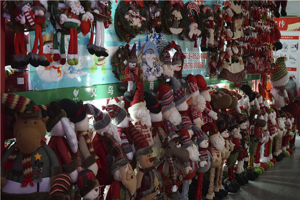 Christmas Items in Yiwu Market District One