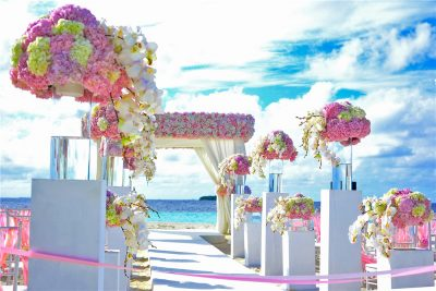 Artificial Flower Decorated Wedding