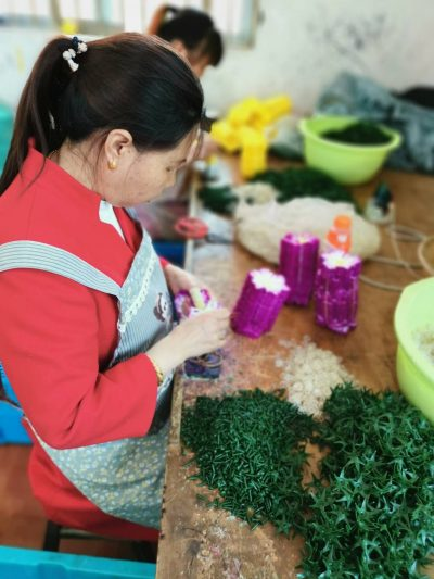 Artificial Flower Worker in Small Workshop