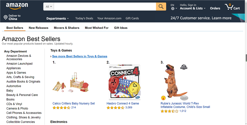 Amazon Toys Best Sellers