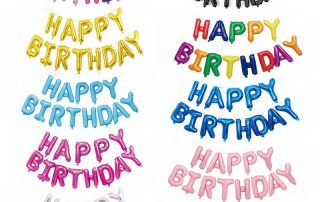 MindenSourcing Happy birthday foil balloons