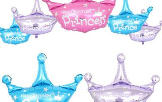 MindenSourcing Party Products Prince or princess hat foil ballons