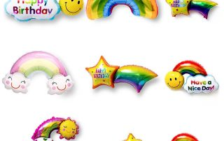 MindenSourcing Party Products Rainbow foil balloons