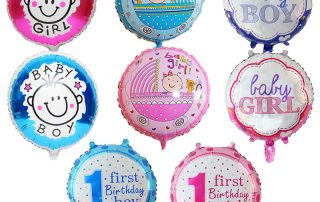 MindenSourcing baby girl first birthday balloons