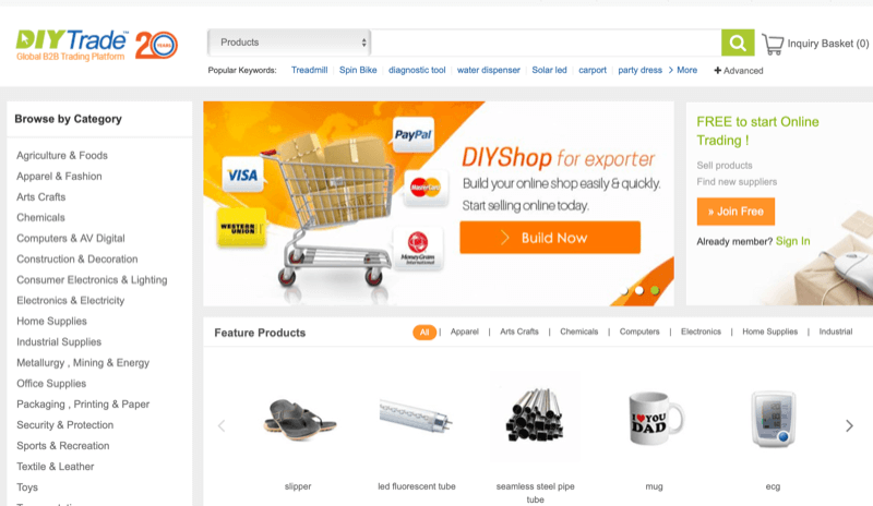 Sourcing Products from DIYtrade
