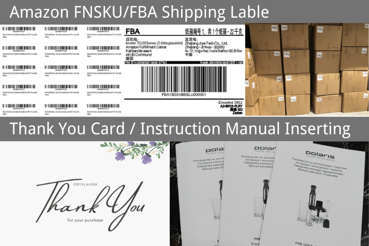 Product labeling, Cards inserting